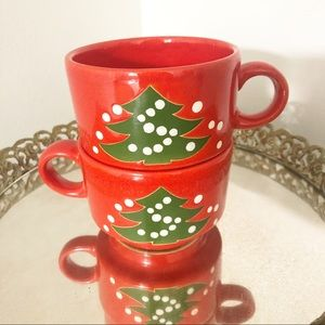 Christmas Stackable Waechtersbach Germany Mugs